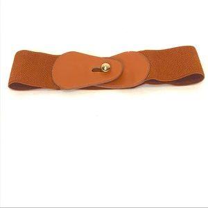 3/$15 Brown Wide Stretch Belt